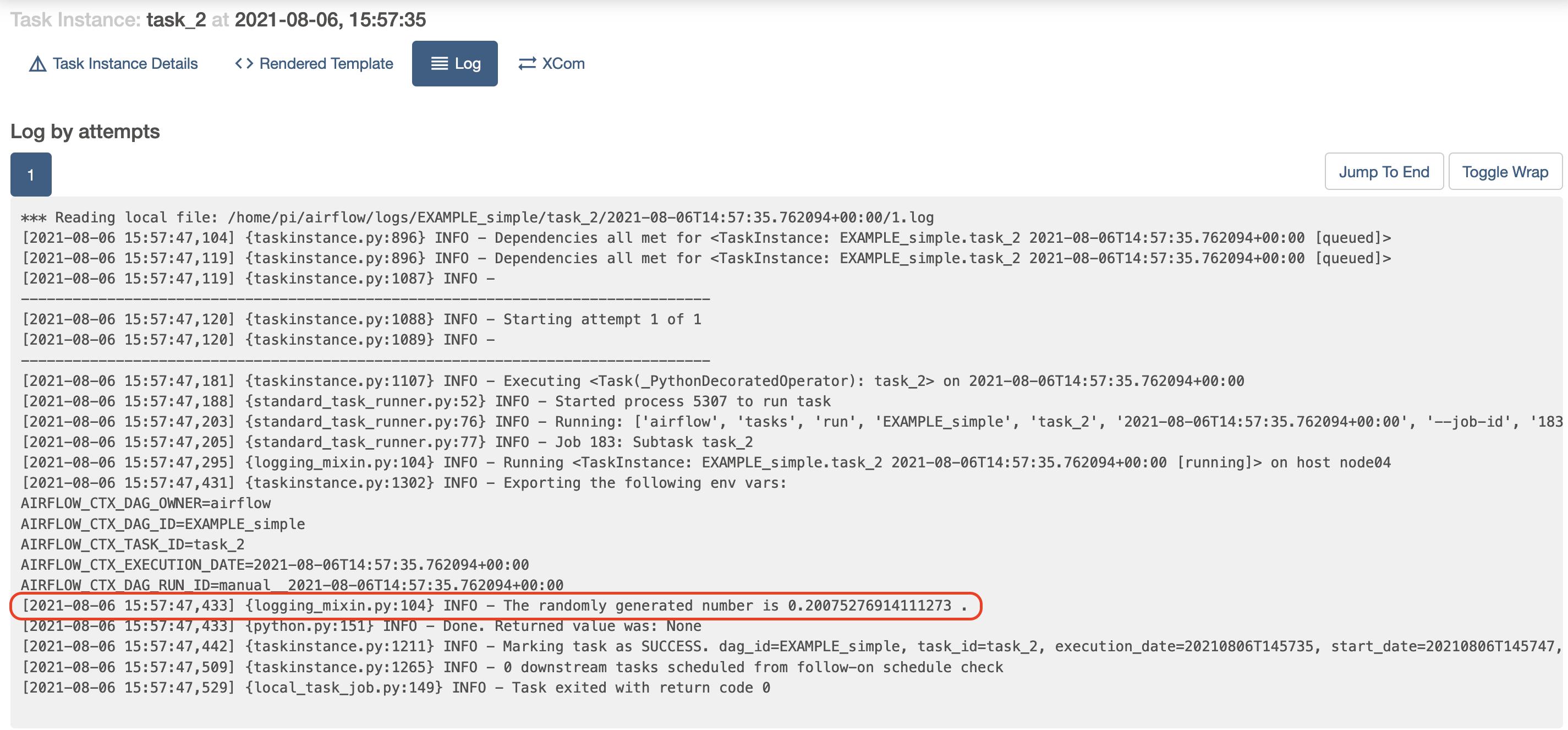 task_2 output log